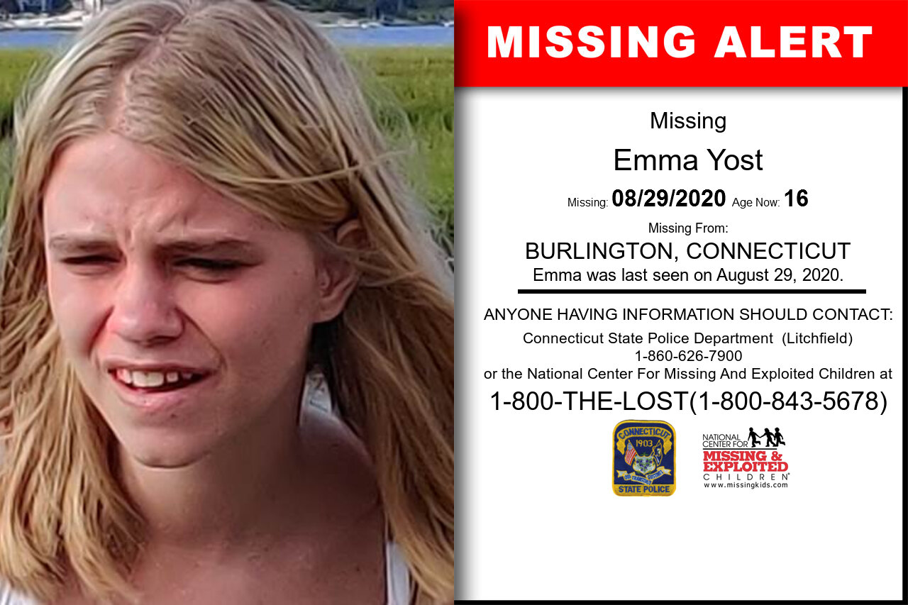 Emma_Yost missing in Connecticut