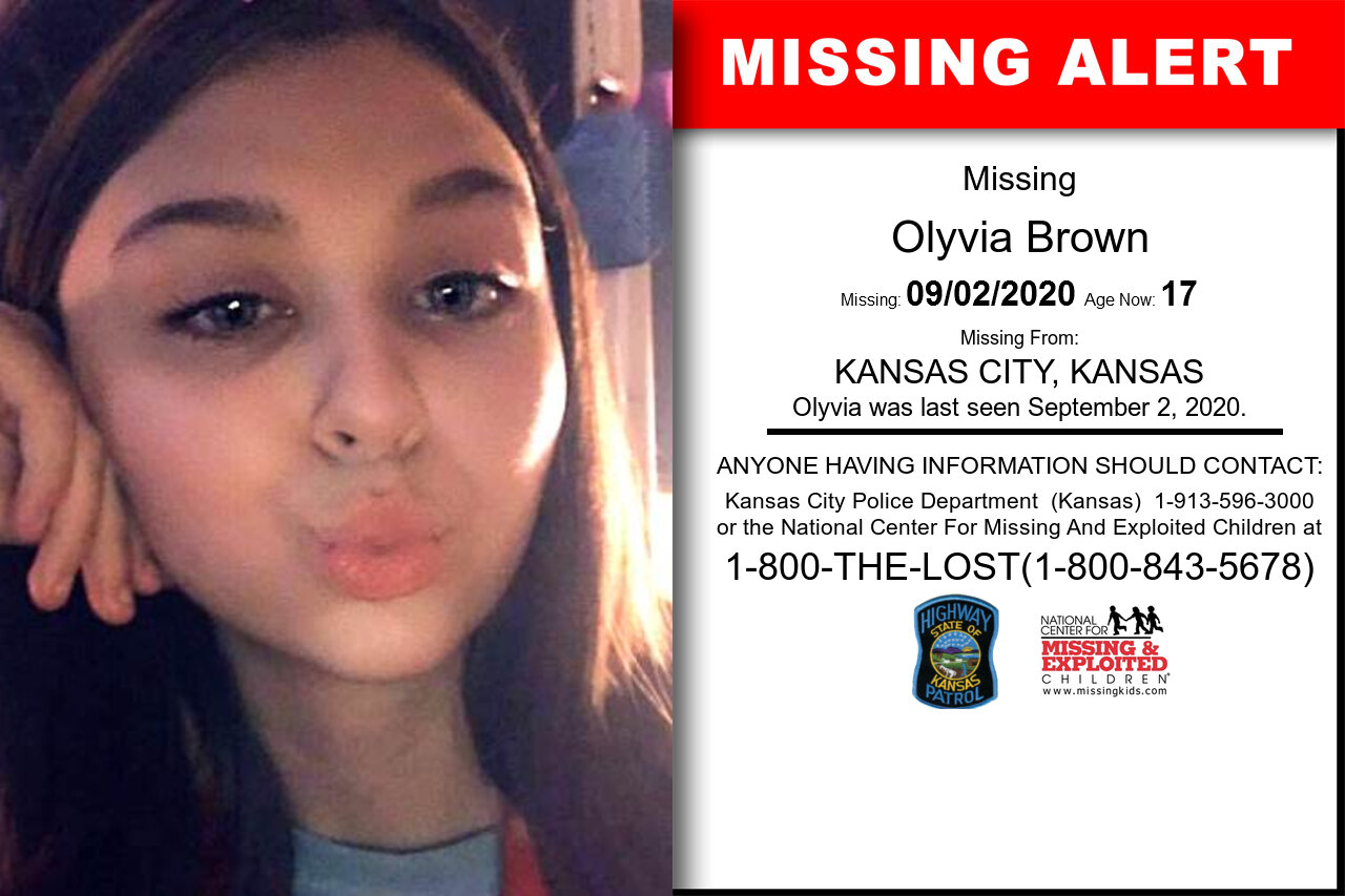 Olyvia_Brown missing in Kansas