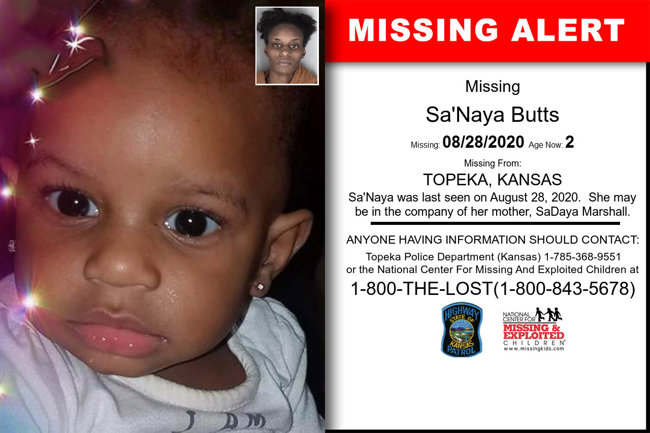 Sa'Naya_Butts missing in Kansas