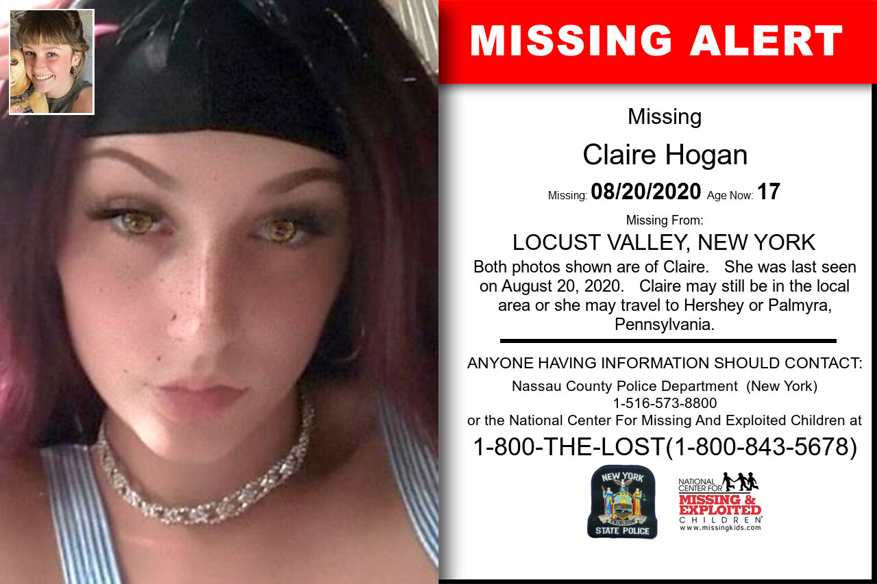 Claire_Hogan missing in New_York