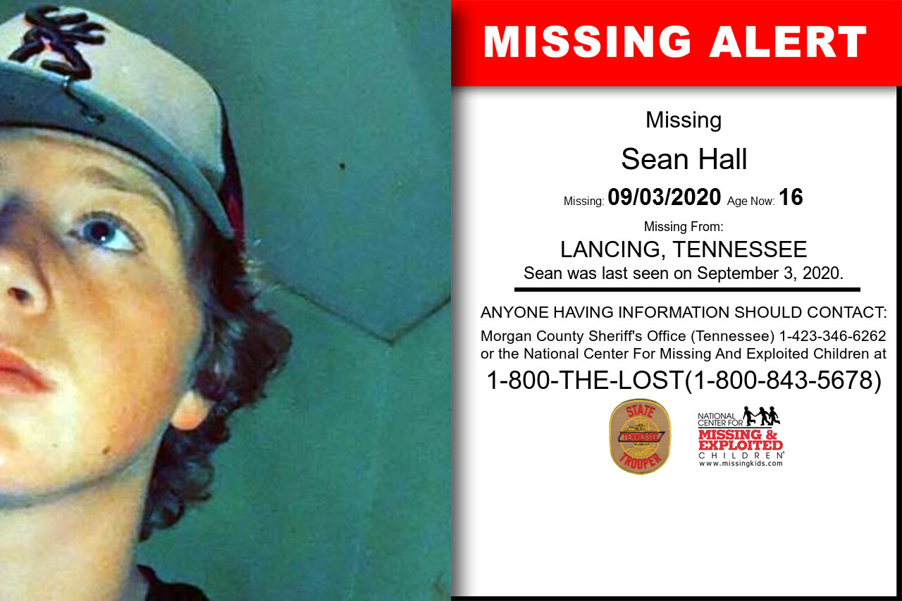 Sean_Hall missing in Tennessee