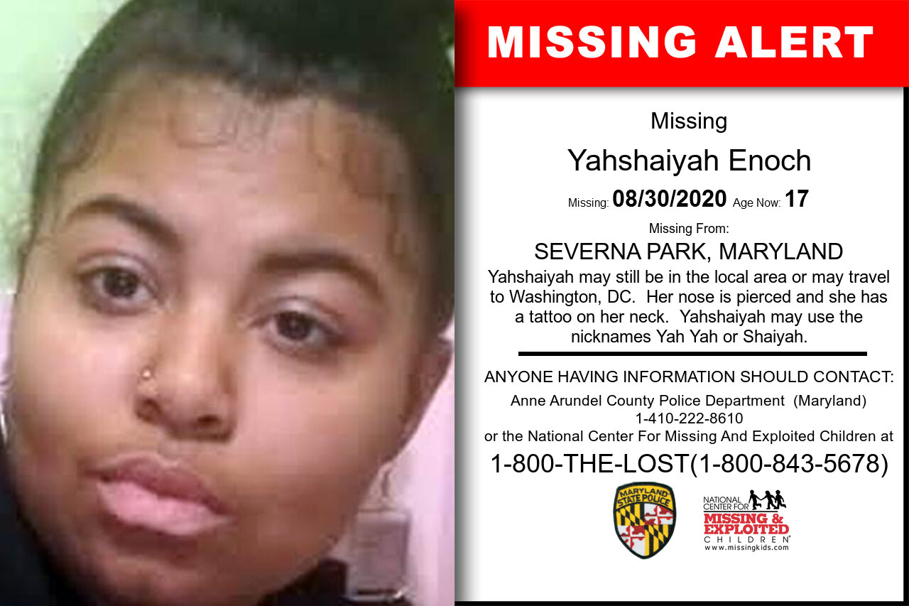 Yahshaiyah_Enoch missing in Maryland