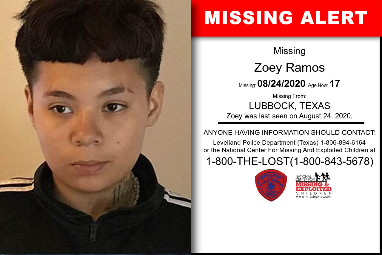 ZOEY_RAMOS missing in Texas