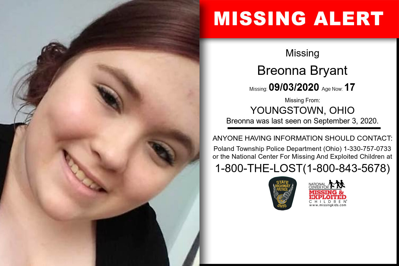 Breonna_Bryant missing in Ohio