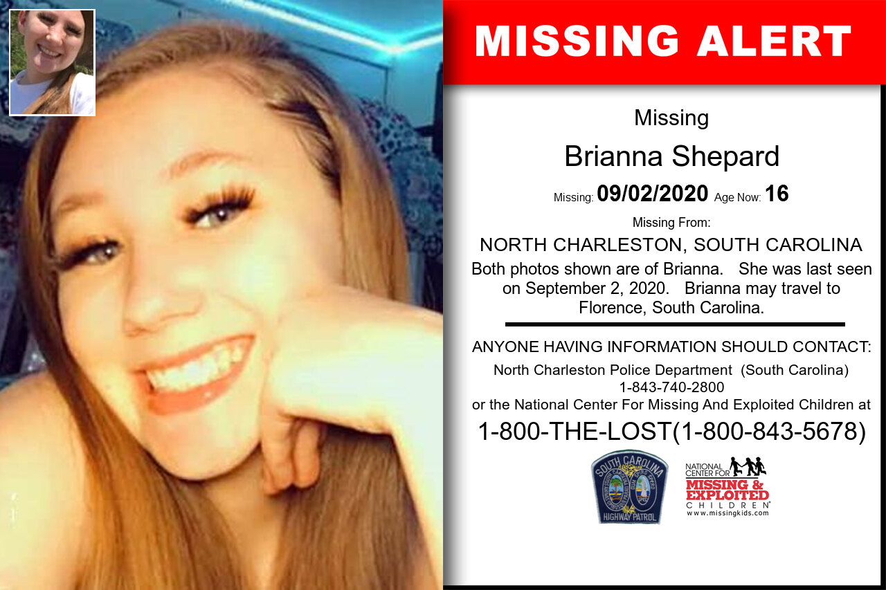 Brianna_Shepard missing in South_Carolina