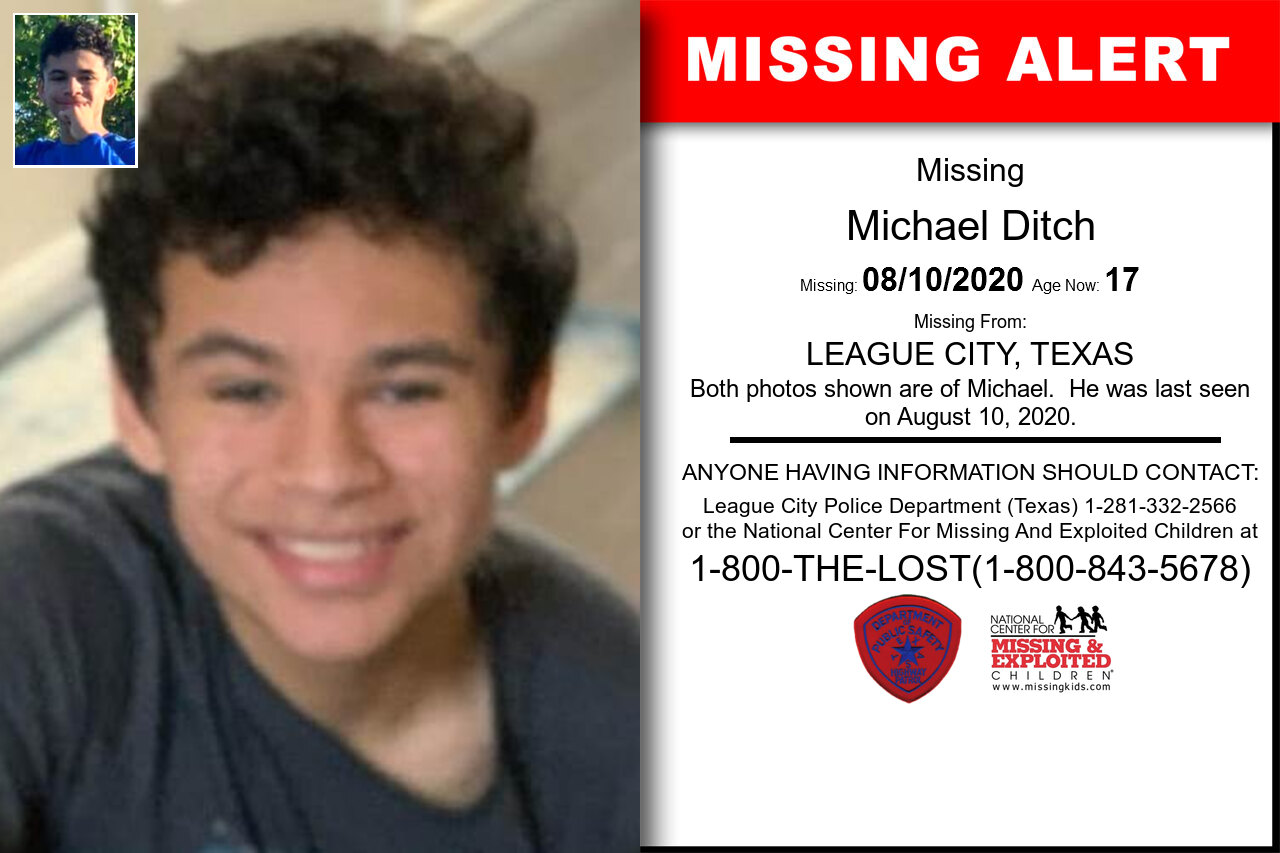 Michael_Ditch missing in Texas