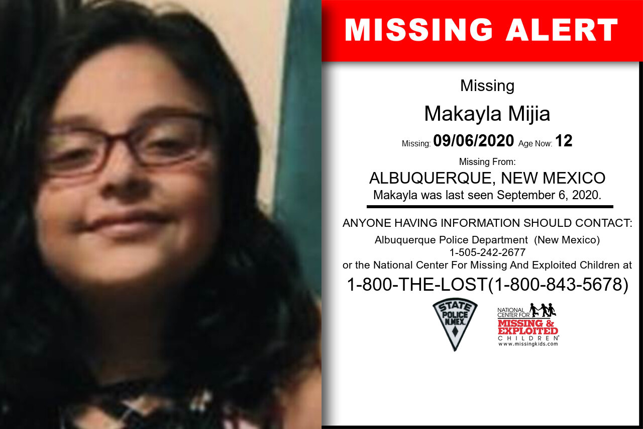 Makayla_Mijia missing in New_Mexico