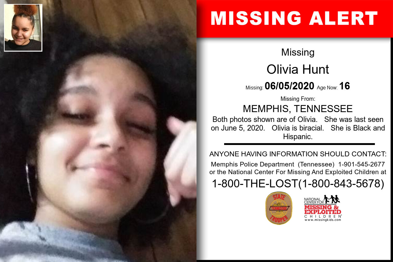 Olivia_Hunt missing in Tennessee