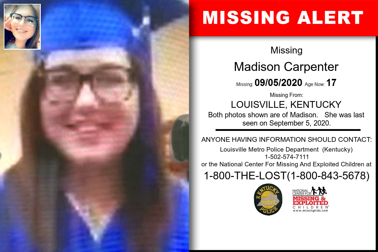 Madison_Carpenter missing in Kentucky