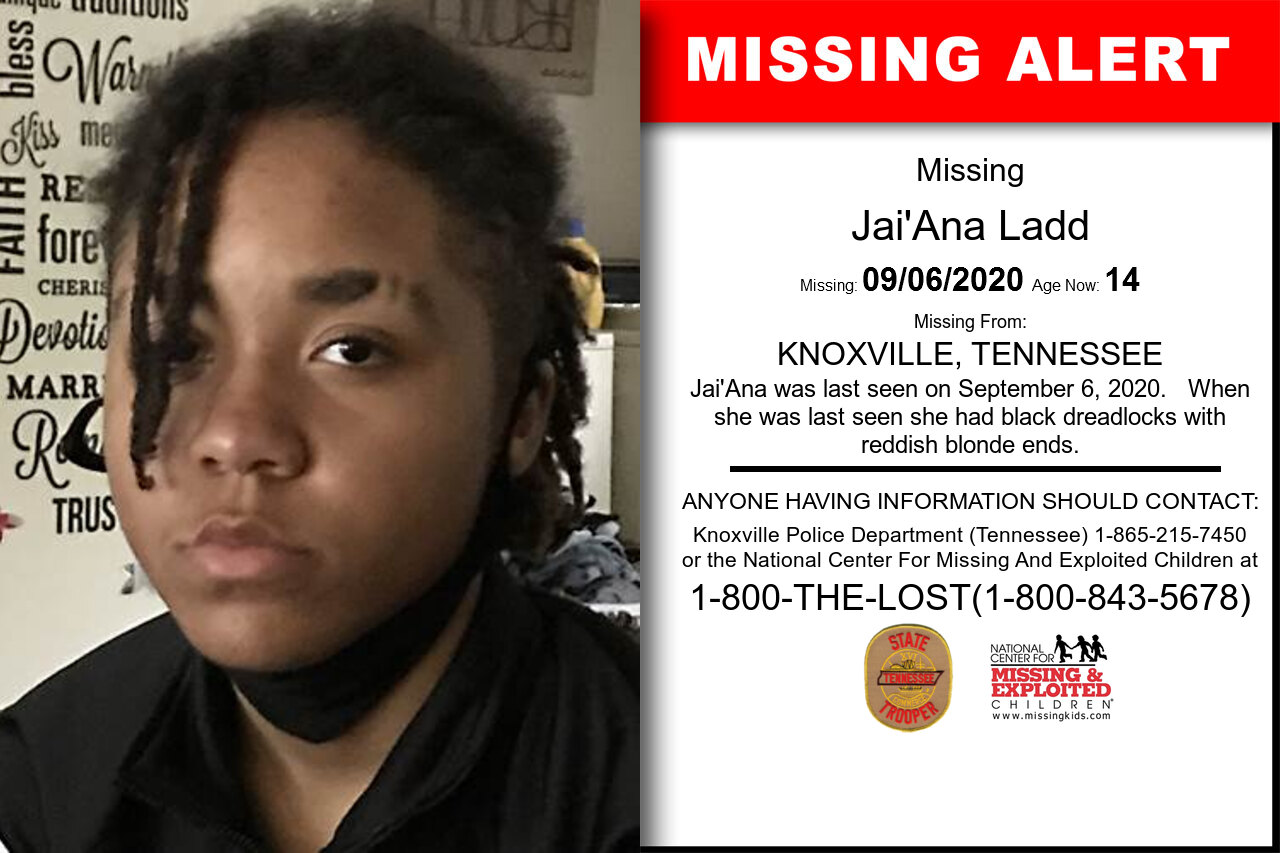 Jai'Ana_Ladd missing in Tennessee