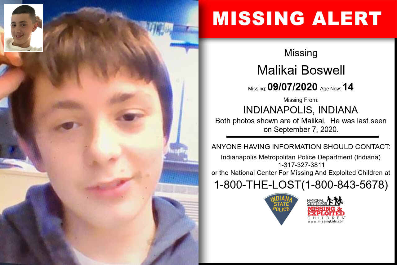 Malikai_Boswell missing in Indiana