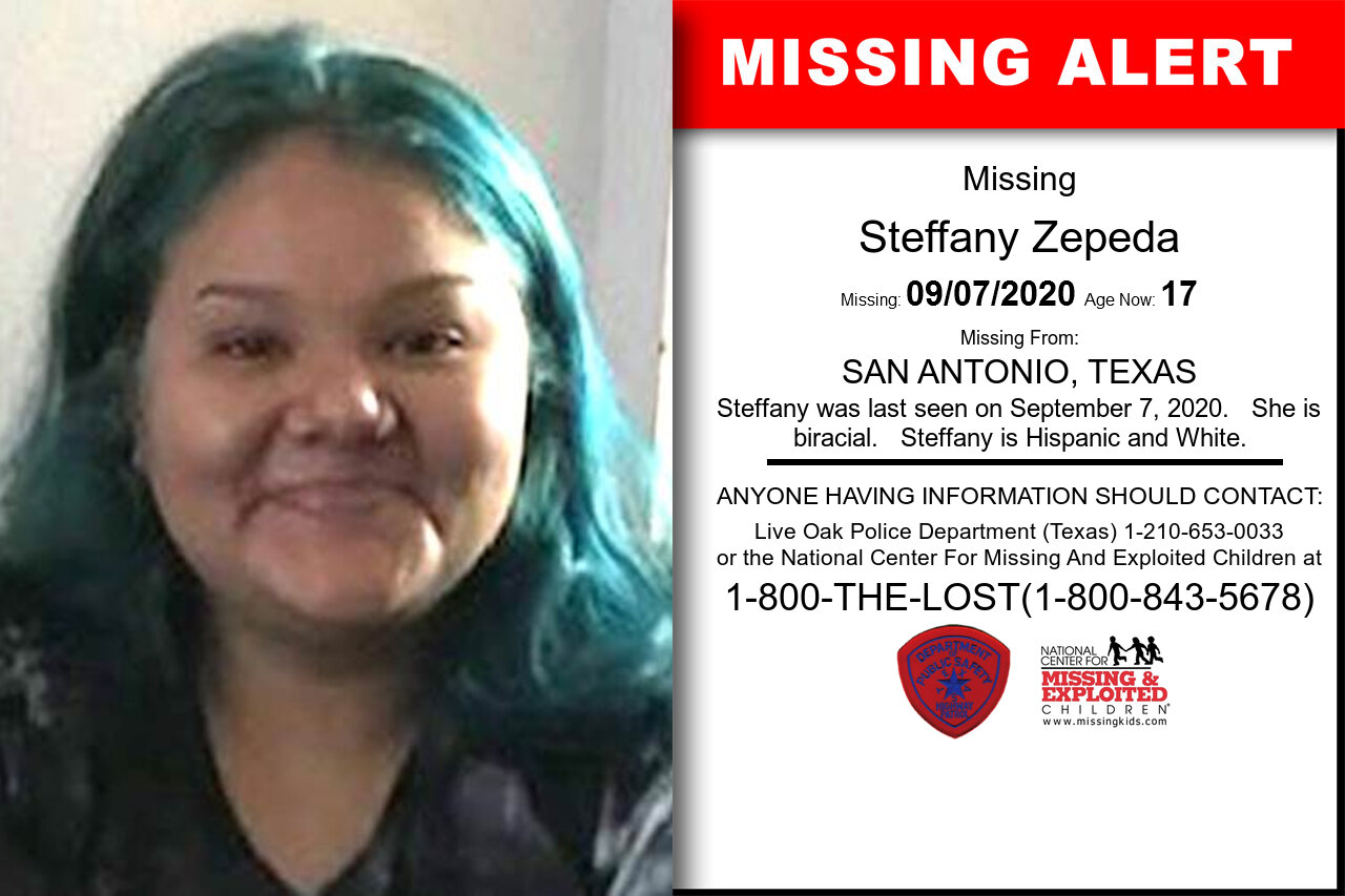 Steffany_Zepeda missing in Texas