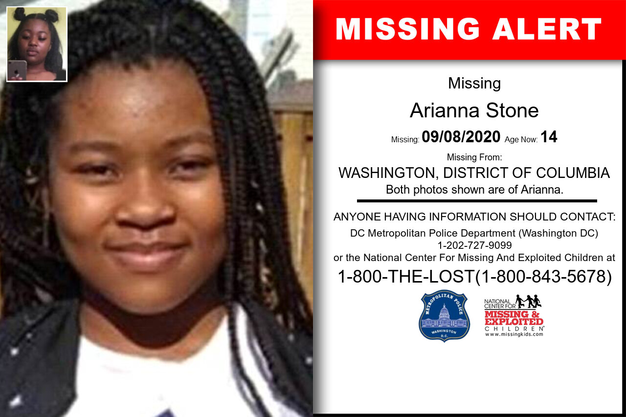 Arianna_Stone missing in District_of_Columbia