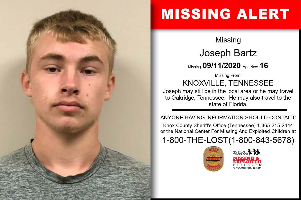 Joseph_Bartz missing in Tennessee