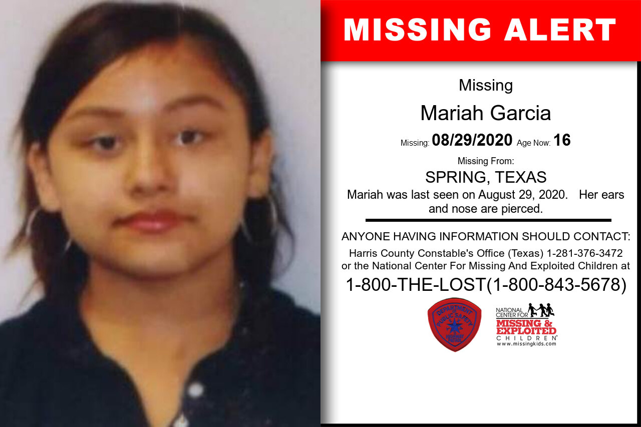 Mariah_Garcia missing in Texas