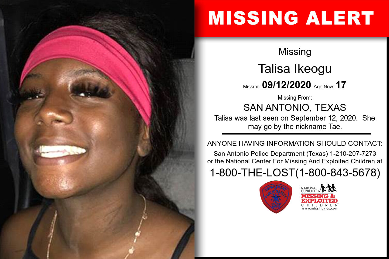 Talisa_Ikeogu missing in Texas