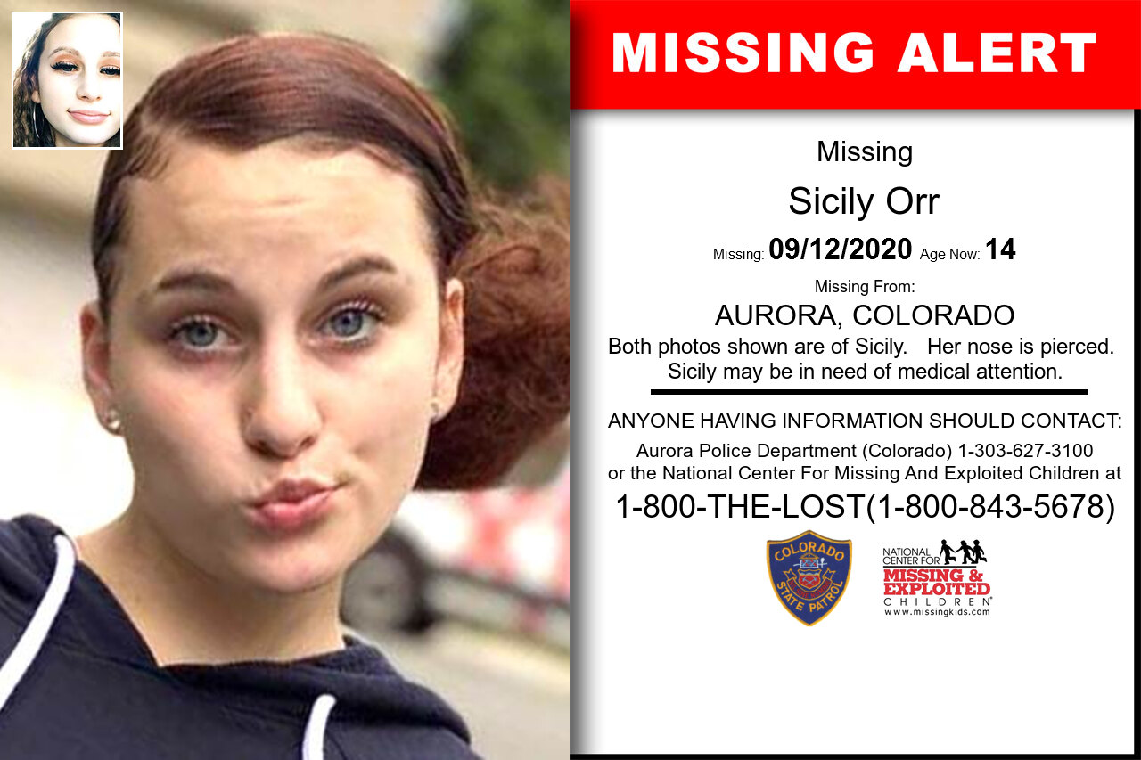Sicily_Orr missing in Colorado
