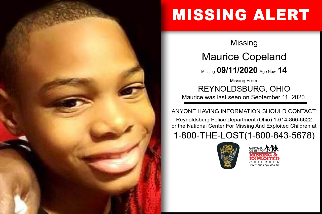 Maurice_Copeland missing in Ohio