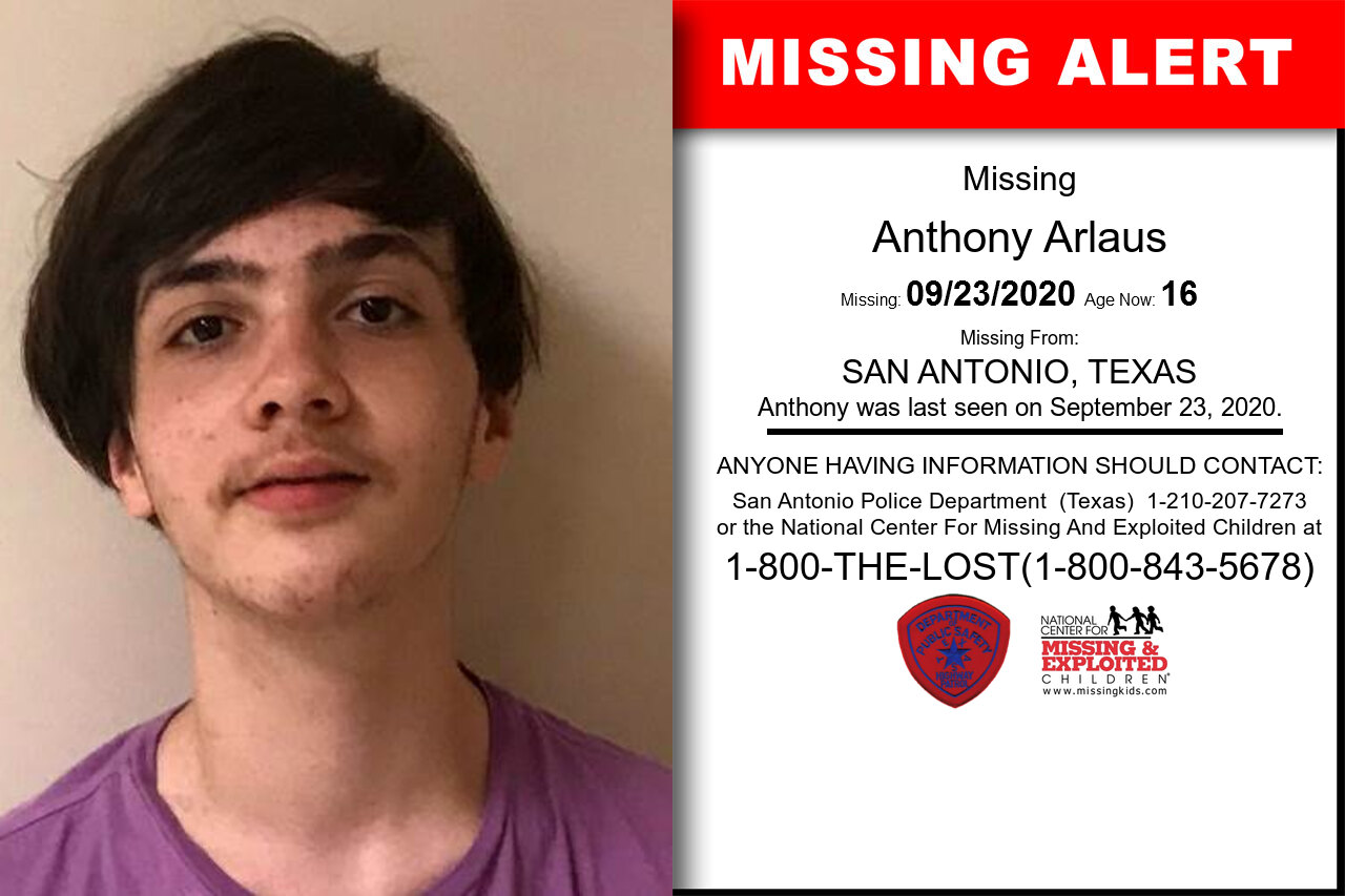 Anthony_Arlaus missing in Texas