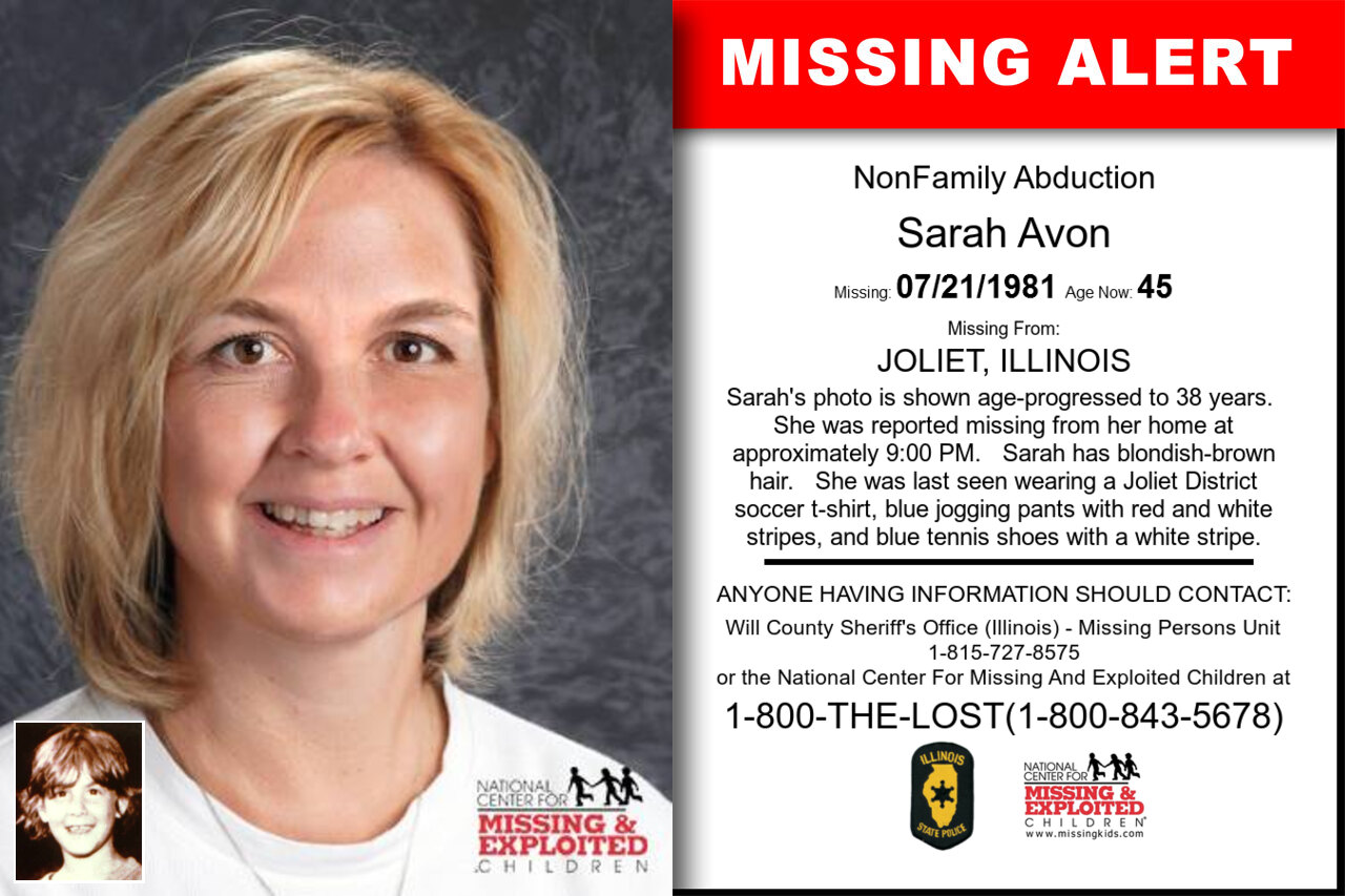 SARAH_AVON missing in Illinois