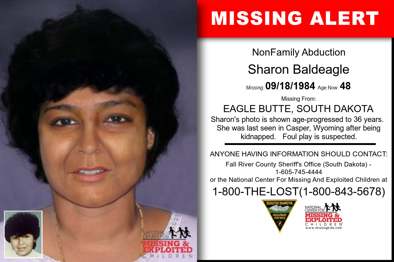 SHARON_BALDEAGLE missing in South_Dakota
