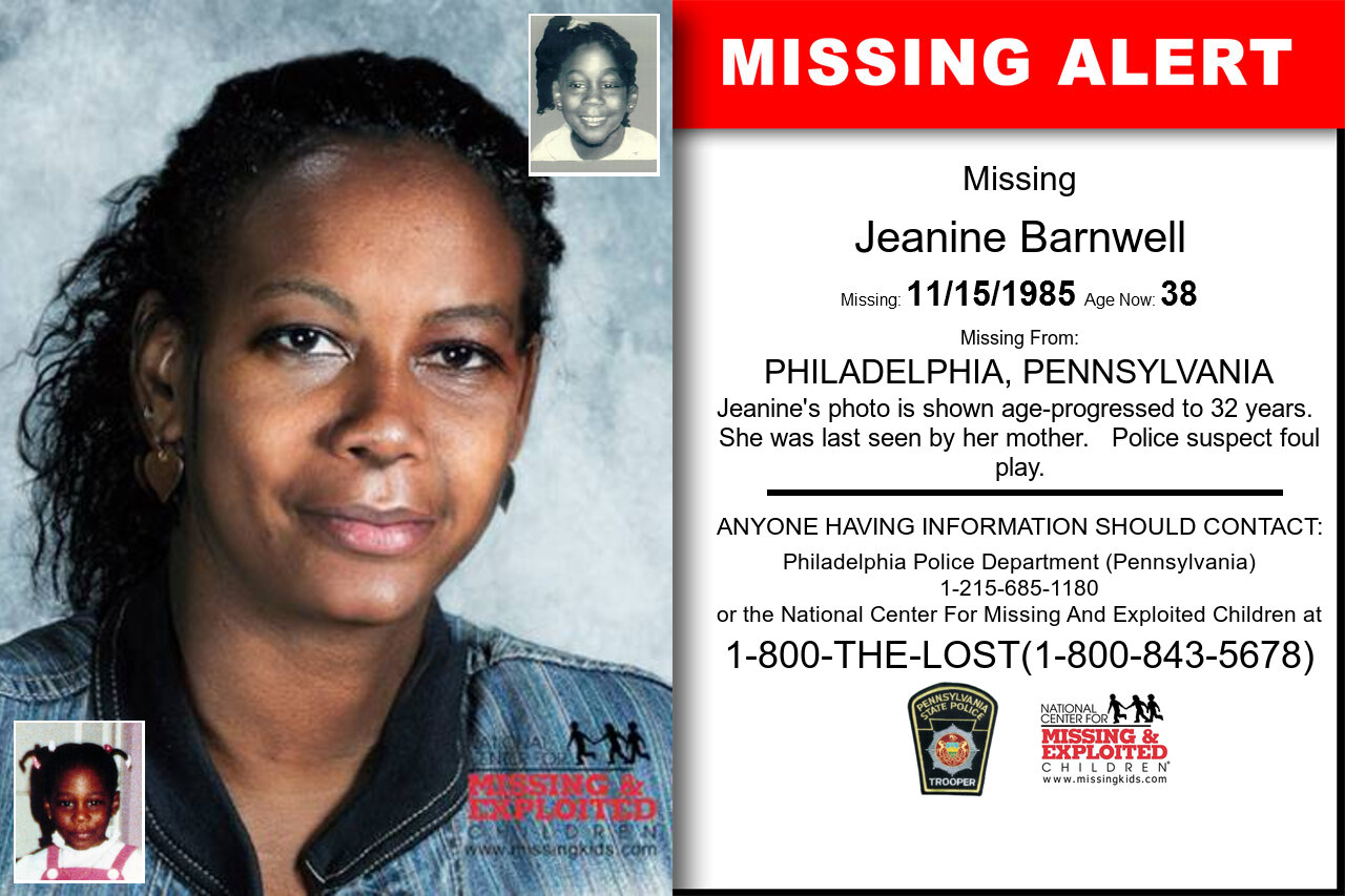 JEANINE_BARNWELL missing in Pennsylvania