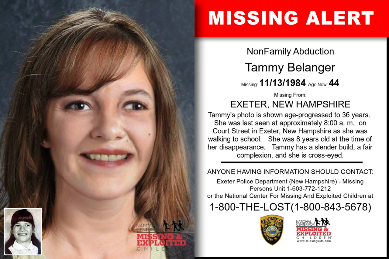 Tammy_Belanger missing in New_Hampshire