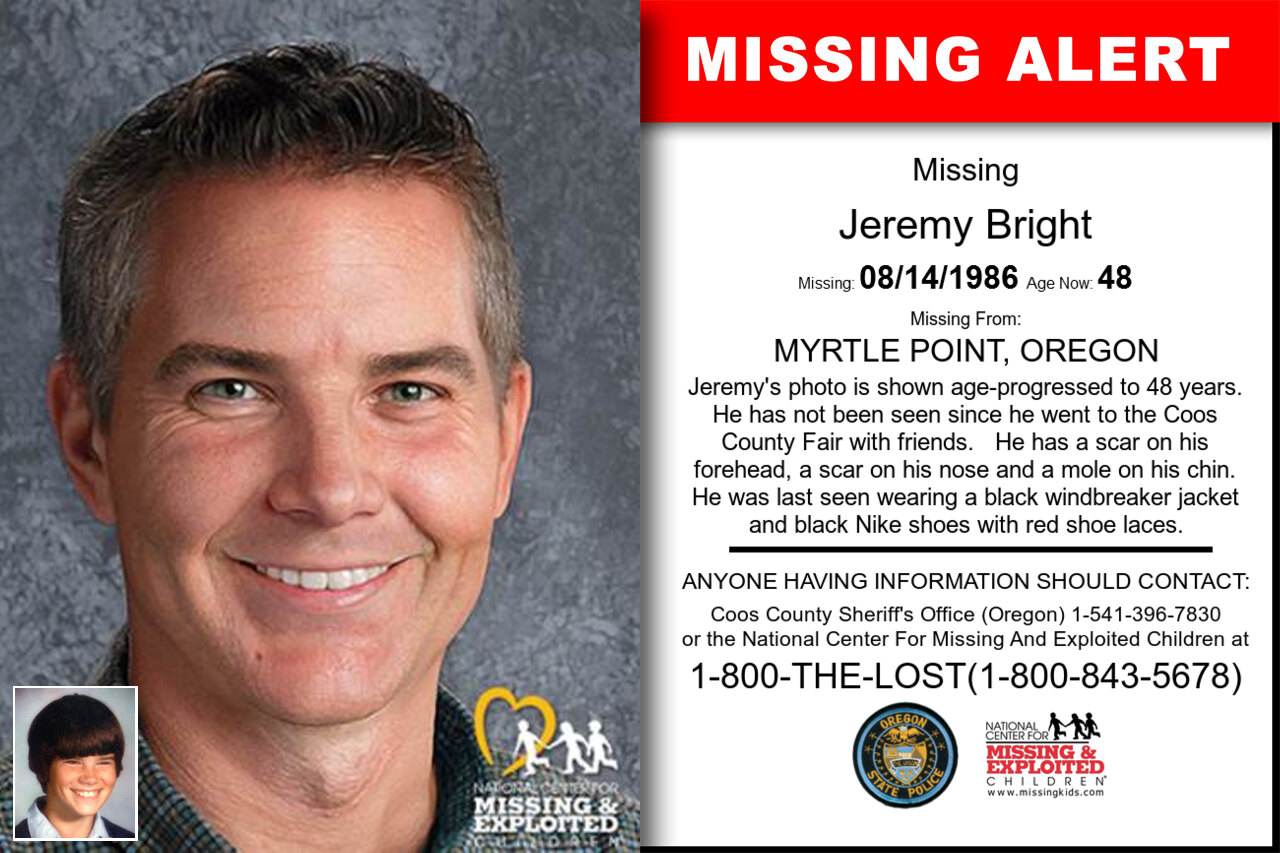 Jeremy_Bright missing in Oregon