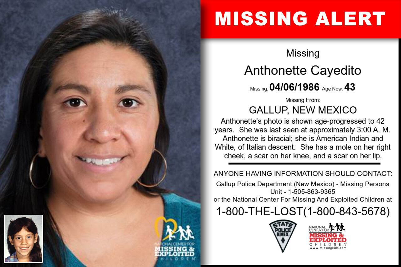 ANTHONETTE_CAYEDITO missing in New_Mexico