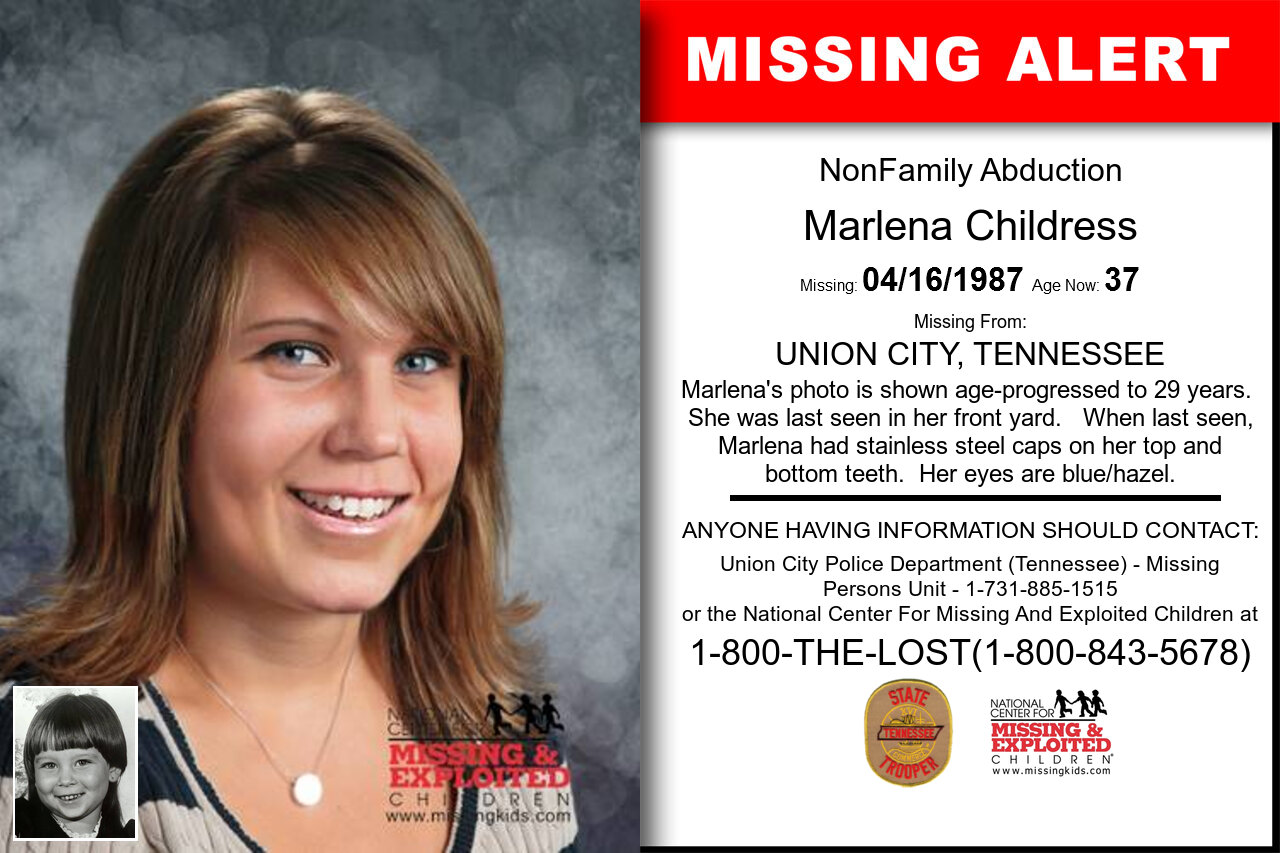 MARLENA_CHILDRESS missing in Tennessee