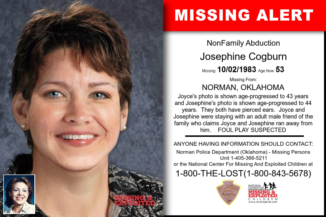 Josephine_Cogburn missing in Oklahoma