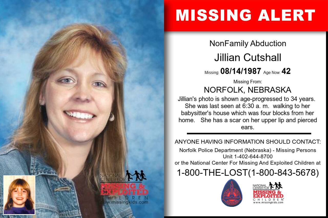 JILLIAN_CUTSHALL missing in Nebraska