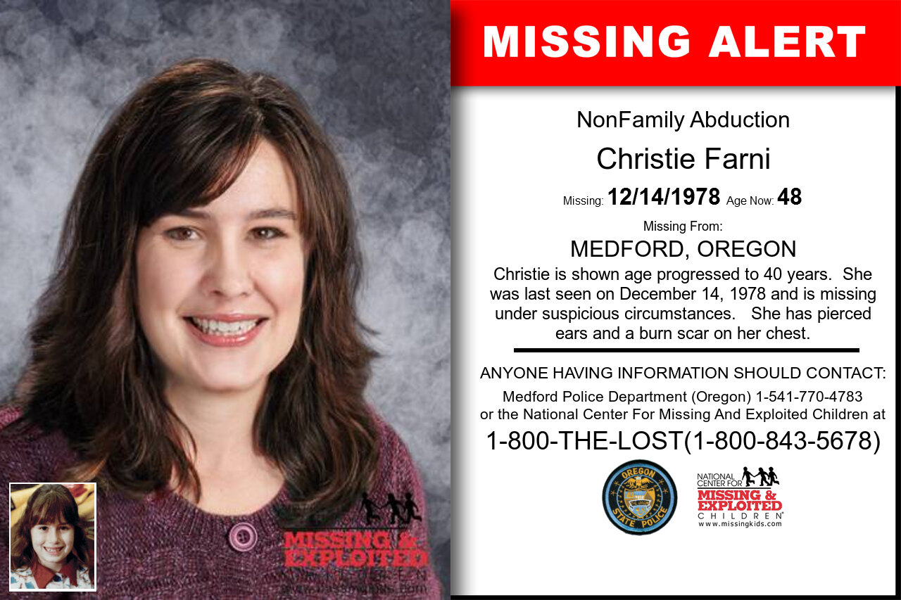 Christie_Farni missing in Oregon