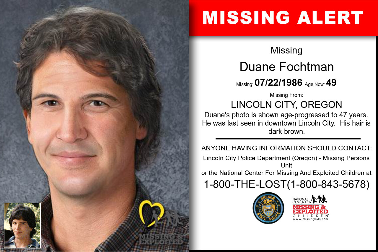 DUANE_FOCHTMAN missing in Oregon