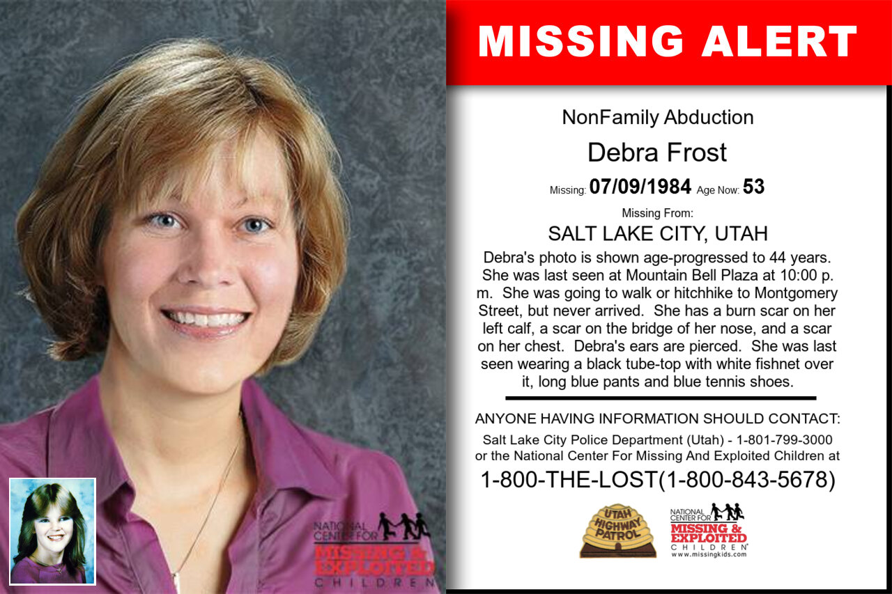 DEBRA_FROST missing in Utah