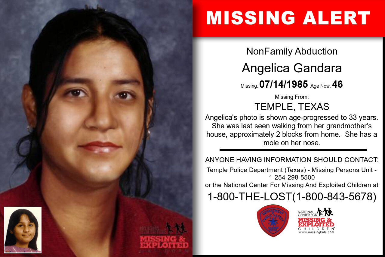 ANGELICA_GANDARA missing in Texas
