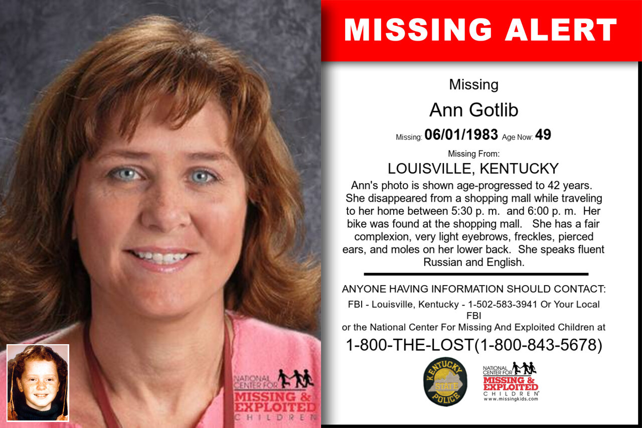 Ann_Gotlib missing in Kentucky