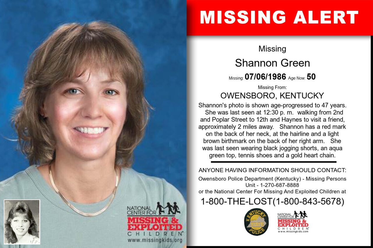 Shannon_Green missing in Kentucky