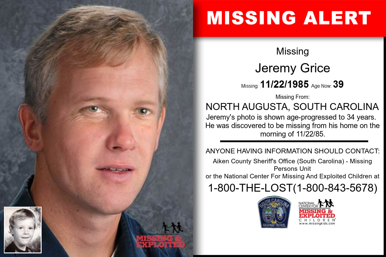 JEREMY_GRICE missing in South_Carolina
