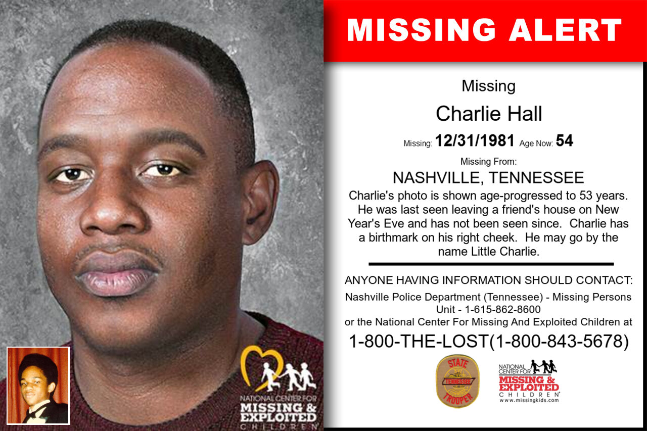 Charlie_Hall missing in Tennessee