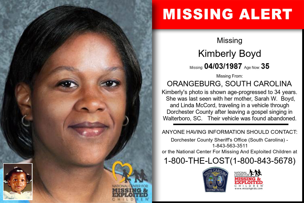 KIMBERLY_BOYD missing in South_Carolina
