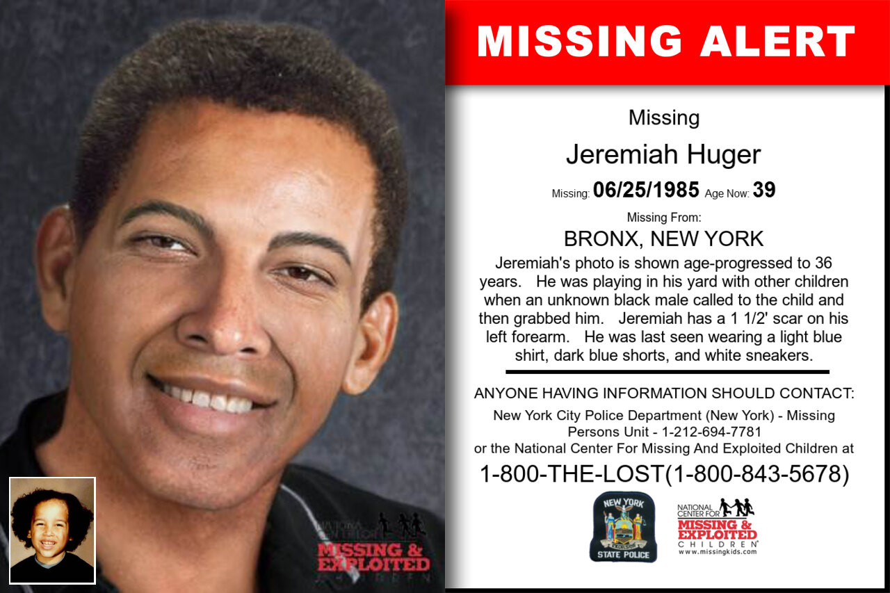Jeremiah_Huger missing in New_York