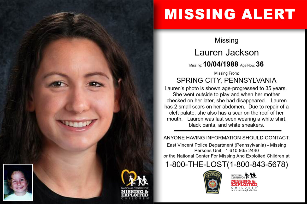 LAUREN_JACKSON missing in Pennsylvania