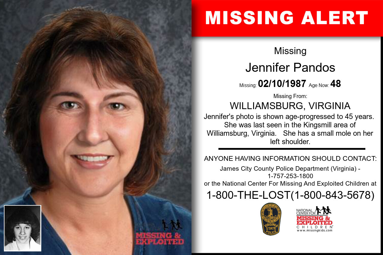 Jennifer_Pandos missing in Virginia