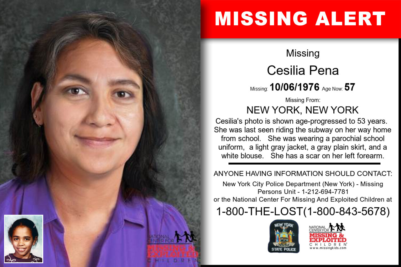 CESILIA_PENA missing in New_York