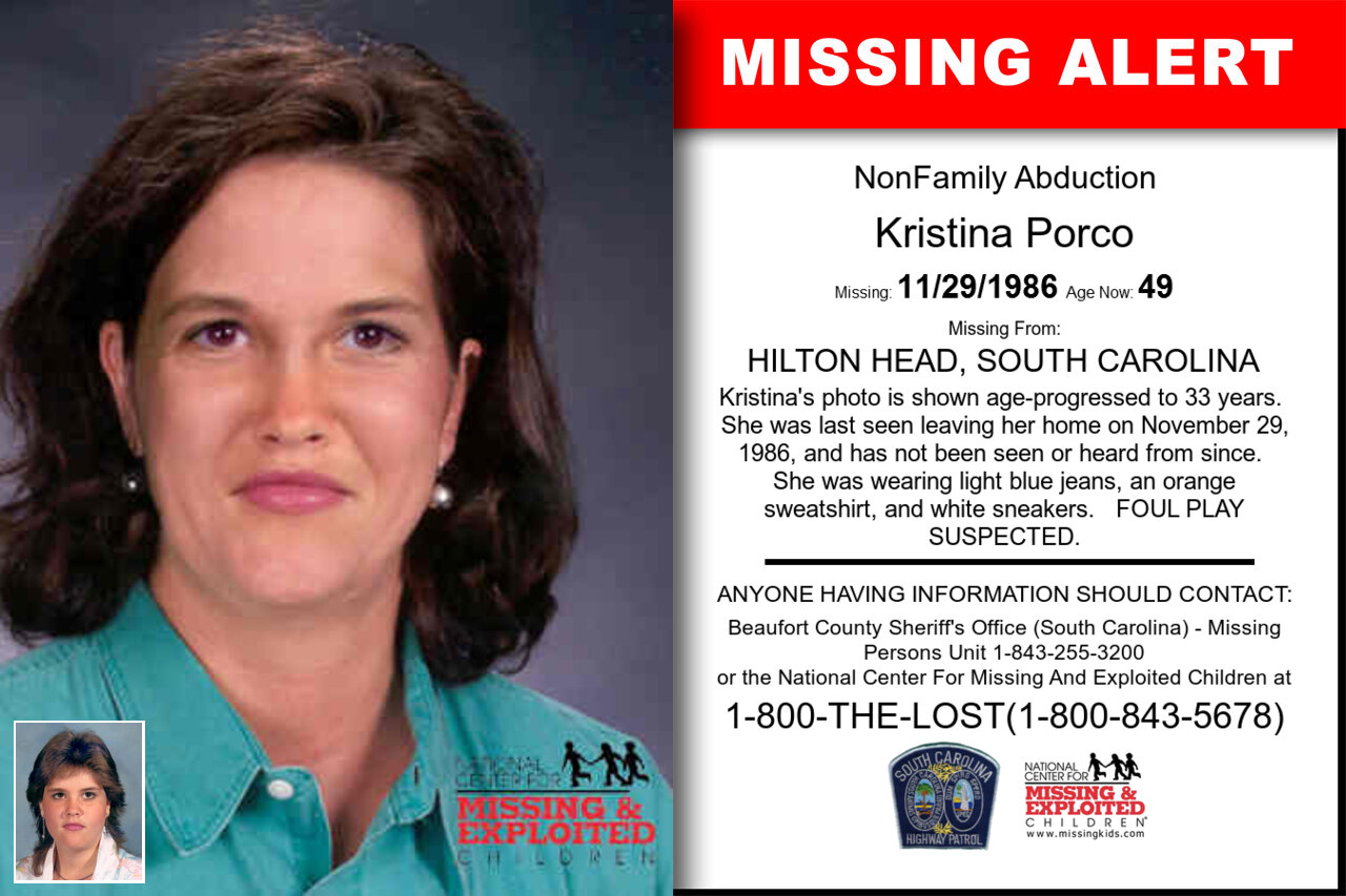 Kristina_Porco missing in South_Carolina