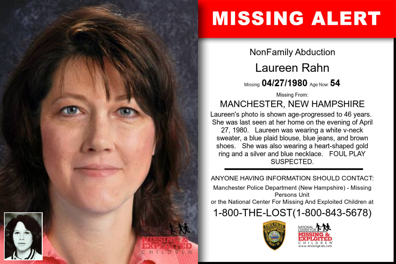 Laureen_Rahn missing in New_Hampshire