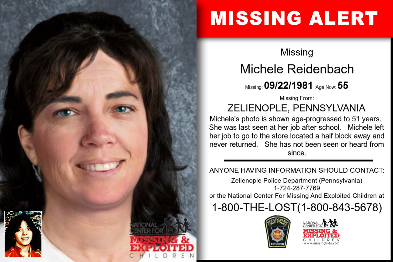 MICHELE_REIDENBACH missing in Pennsylvania