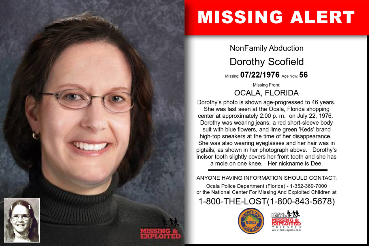 DOROTHY_SCOFIELD missing in Florida
