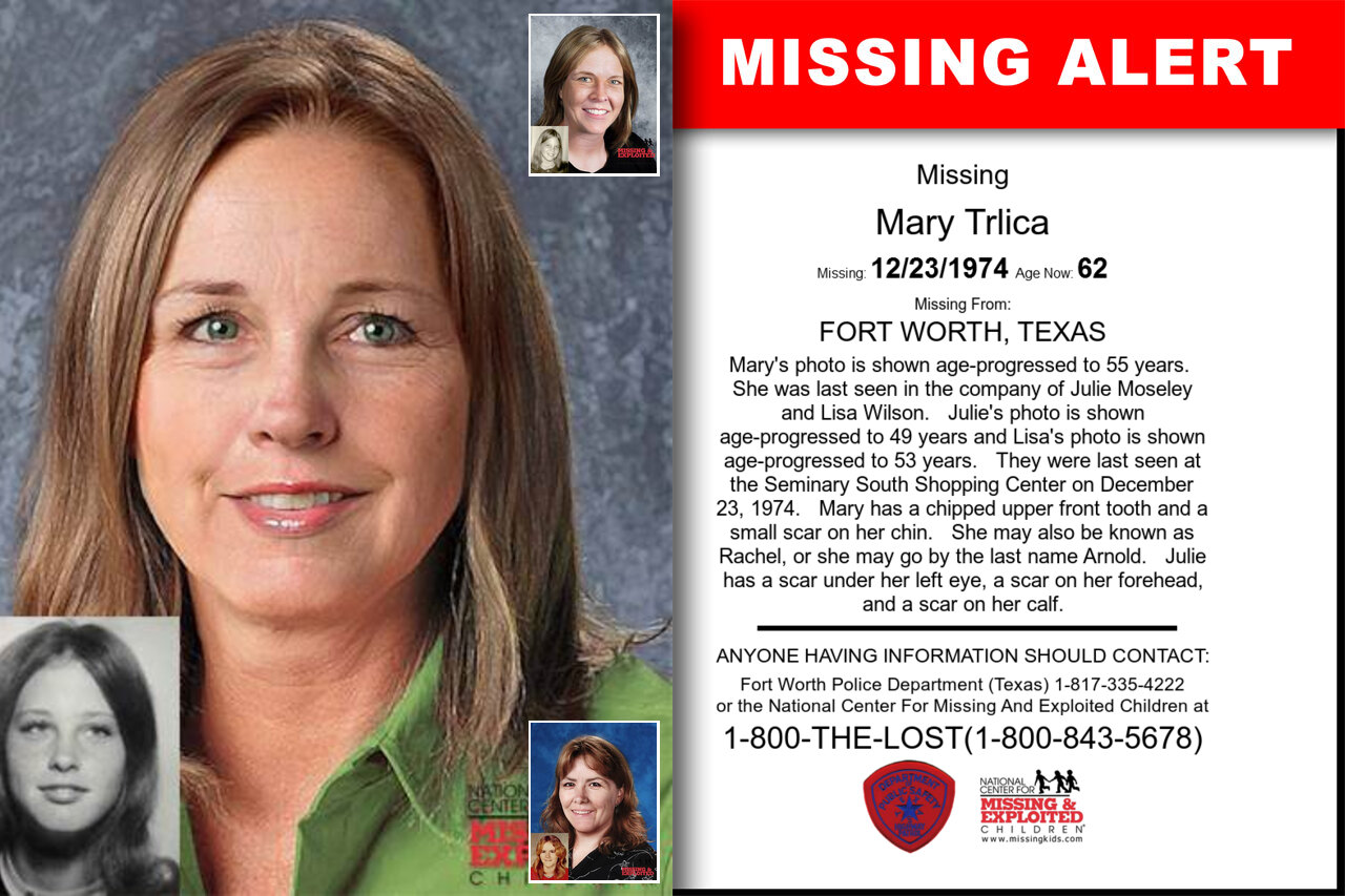 MARY_TRLICA missing in Texas